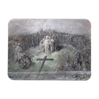 The Crucifixion (w/c and gouache on paper) Rectangular Magnets