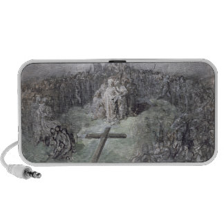 The Crucifixion (w/c and gouache on paper) iPhone Speaker