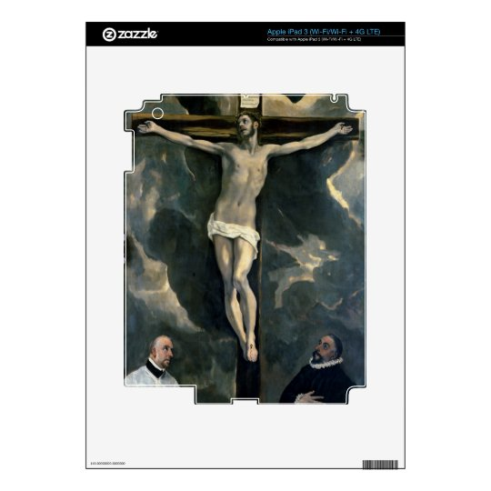The Crucifixion with Two Donors, c.1580 (oil on ca iPad 3 Decals