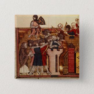 The Crusader assault on Jerusalem Pinback Button