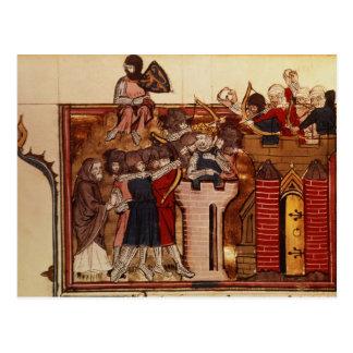 The Crusader assault on Jerusalem Postcard