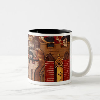 The Crusader assault on Jerusalem Two-Tone Coffee Mug