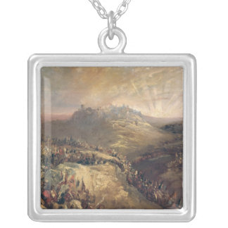 The Crusaders Before Jerusalem Square Pendant Necklace