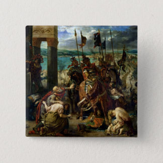 The Crusaders' entry into Constantinople Pinback Button