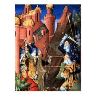 The Crusades, medieval image Postcard