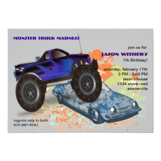 The Crusher Monster Truck Invitation