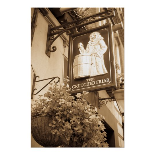 The Crutched Friar pub London Poster