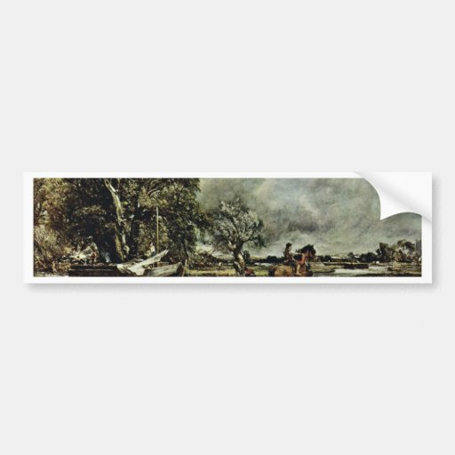 The Crux Of The Horse By John Constable (Best Qual Bumper Stickers