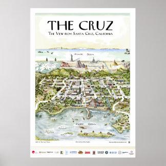 """The Cruz"" The View from Santa Cruz, CA Poster"