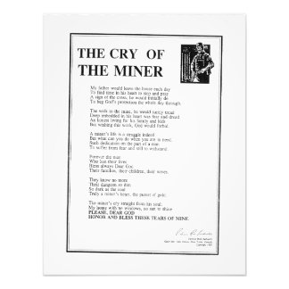 The Cry Of The Miner Photo Print