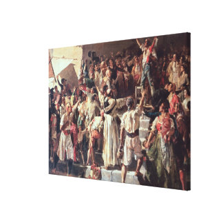 The Cry of the Palleter declaring was on Canvas Print
