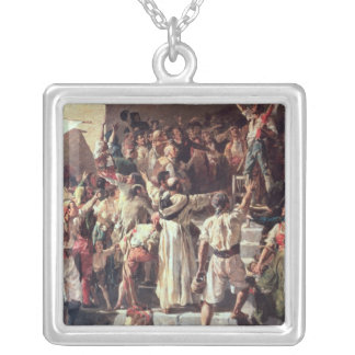 The Cry of the Palleter declaring was on Silver Plated Necklace