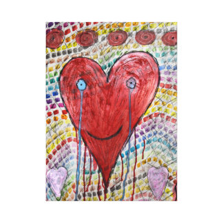 The crying heart canvas print