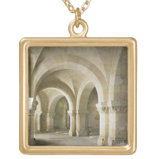 The Crypt, c.1144 (photo) Gold Plated Necklace