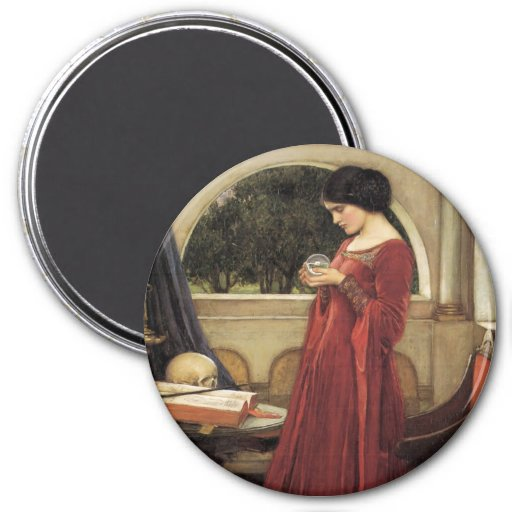 The Crystal Ball 3 Inch Round Magnet