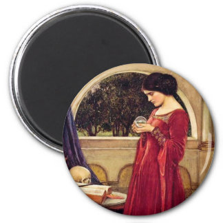 """The Crystal Ball"" by John William Waterhouse Magnet"