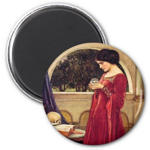 """The Crystal Ball"" by John William Waterhouse Magnets"