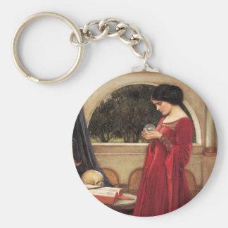The Crystal Ball [John William Waterhouse] Keychain
