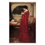 The Crystal Ball [John William Waterhouse] Poster