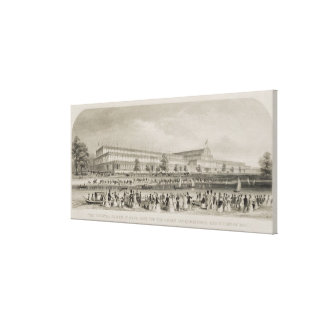 The Crystal Palace in Hyde Park for the Great Inte Canvas Print