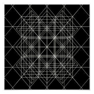 The Crystal Temple Sacred Geometry Poster