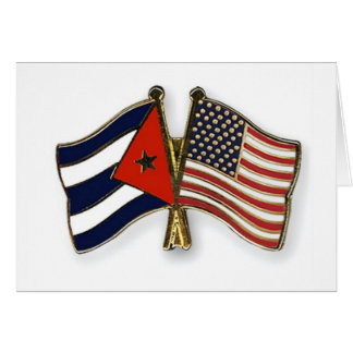 The Cuban Flag and the American Flag Card