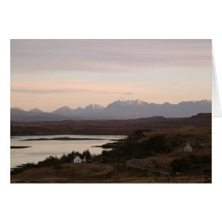The Cuillin Mountains At Isle Of Skye In Scotland. Greeting Card
