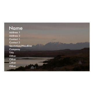 The Cuillin Mountains At Isle Of Skye In Scotland. Double-Sided Standard Business Cards (Pack Of 100)