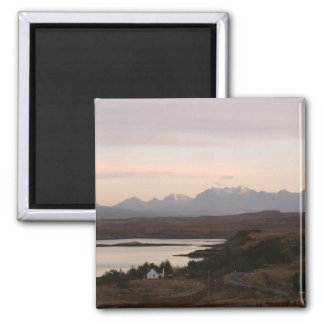 The Cuillin Mountains At Isle Of Skye In Scotland. Magnet