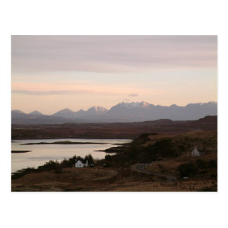 The Cuillin Mountains At Isle Of Skye In Scotland. Post Card