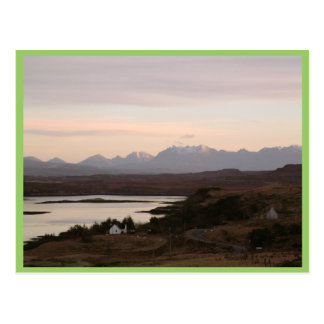 The Cuillin Mountains At Isle Of Skye In Scotland. Postcard