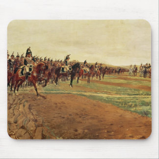 The Cuirassiers before their Charge at the Battle Mouse Pad