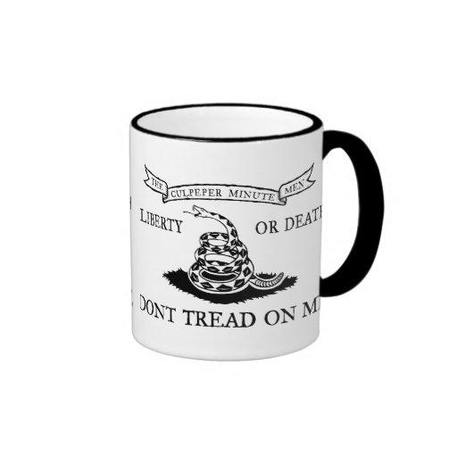 The Culpeper Don't Tread on Me Flag Coffee Mug