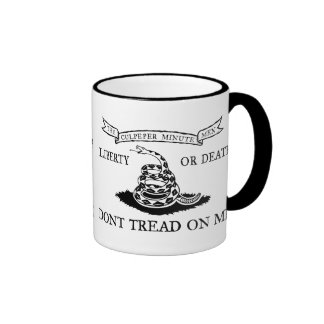 The Culpeper Don't Tread on Me Flag Ringer Mug