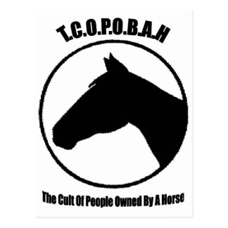 The Cult of People Owned by a Horse Postcard