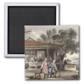 The Culture and Preparation of Tea, from 'China in 2 Inch Square Magnet