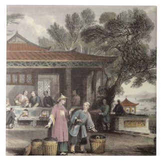 The Culture and Preparation of Tea, from 'China in Tile