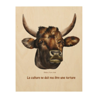 the culture should not be a torture wood wall art