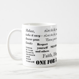 The cup for an inspired start into the day! mug
