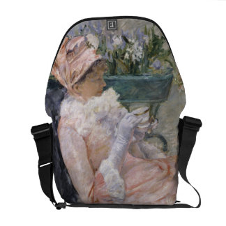 The Cup of Tea by Mary Cassatt Courier Bag