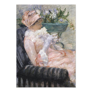 The Cup of Tea by Mary Cassatt 5x7 Paper Invitation Card