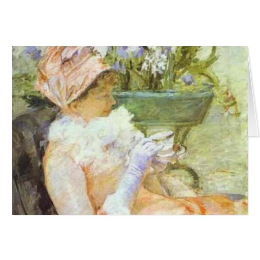 The Cup of Tea, Portrait of Lydia, Mary Cassatt Greeting Cards