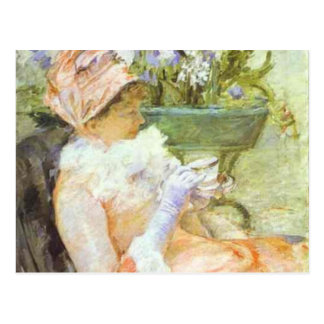 The Cup of Tea, Portrait of Lydia, Mary Cassatt Post Cards