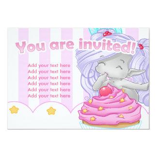 "The Cupcake fairy 5"" X 7"" Invitation Card"