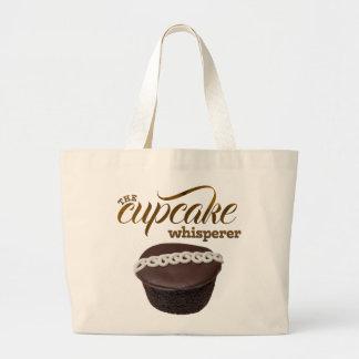 """The Cupcake Whisperer"" Large Tote Bag"