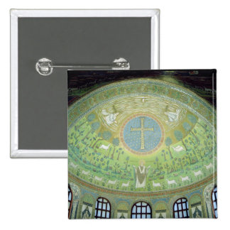 The cupola with a mosaic depicting 2 inch square button