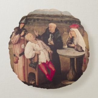 The Cure of Folly Round Pillow