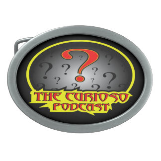 The Curioso podcast logo Beltbuckle Belt Buckle