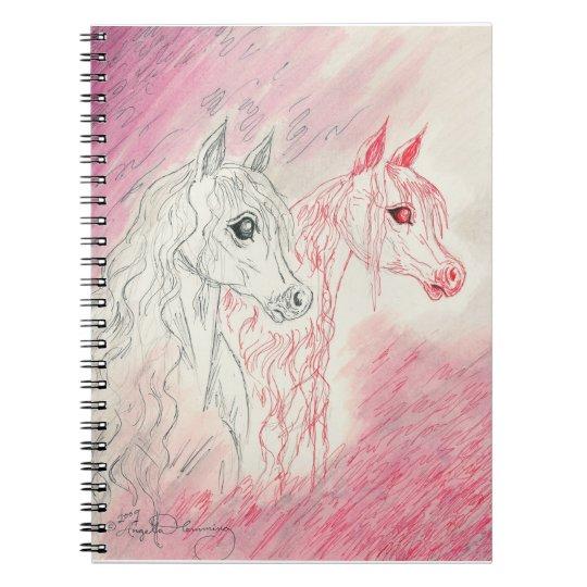 The Curious Arabian Horses Notebook