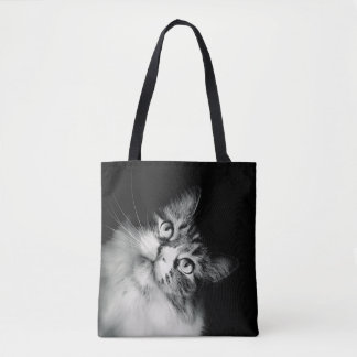 The Curious Cat Tote Bag